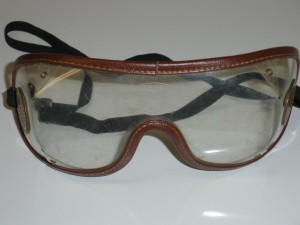 The goggles worn by Jean Cruguet when he guided Seattle Slew to victory in the Belmont Stakes winning The Triple Crown
