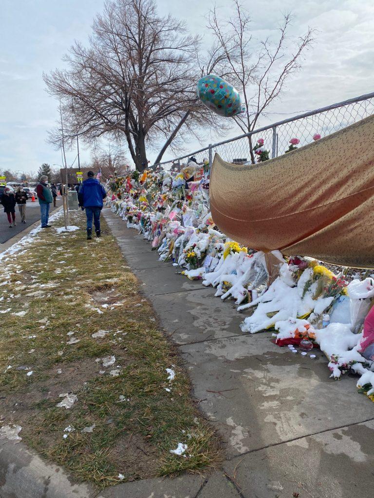 memorial at the King Soopers Boulder Colorado shooting